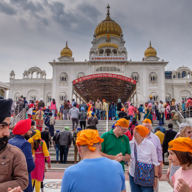 """Tourists At Sikh Temple."" stock image"