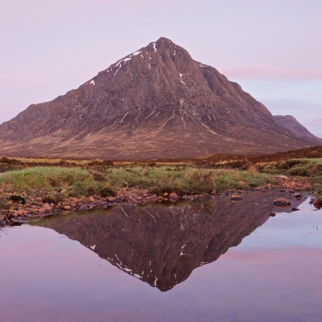 """""""Sunrise in Glencoe"""" stock image"""