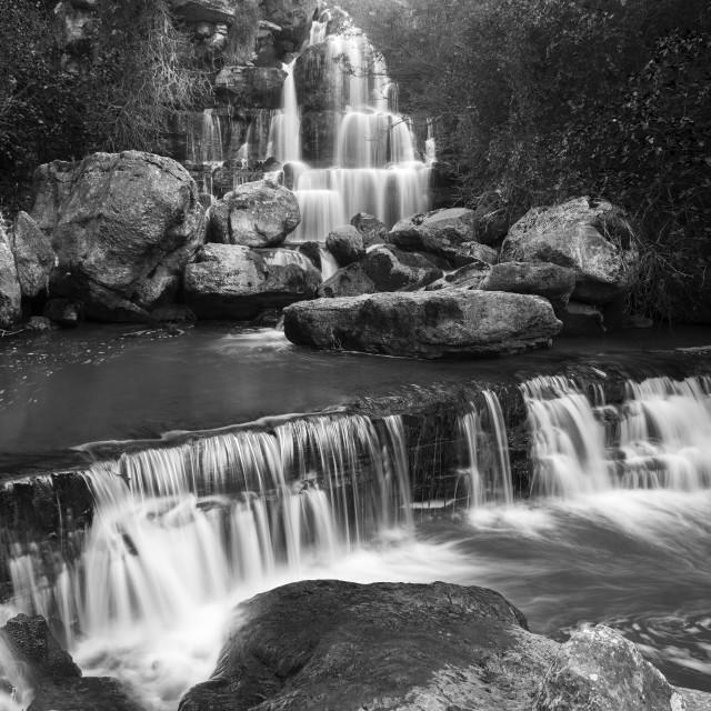 """Bajouca waterfall in Sintra, Portugal"" stock image"