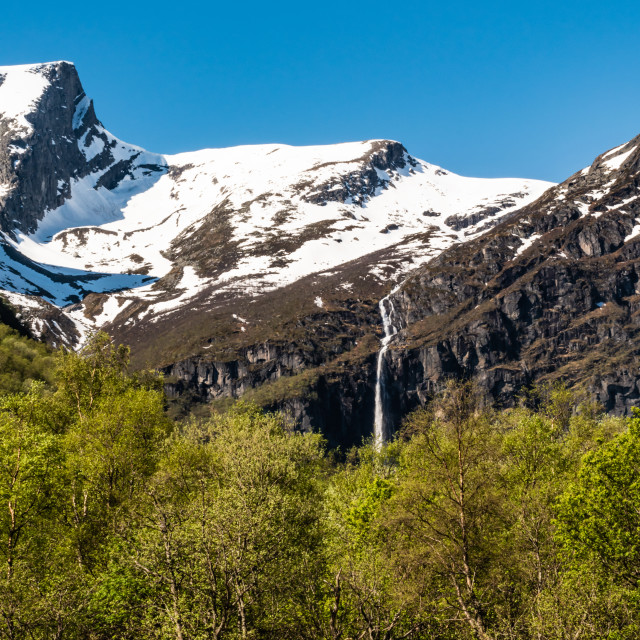 """The Briksdal Glacier National Park"" stock image"