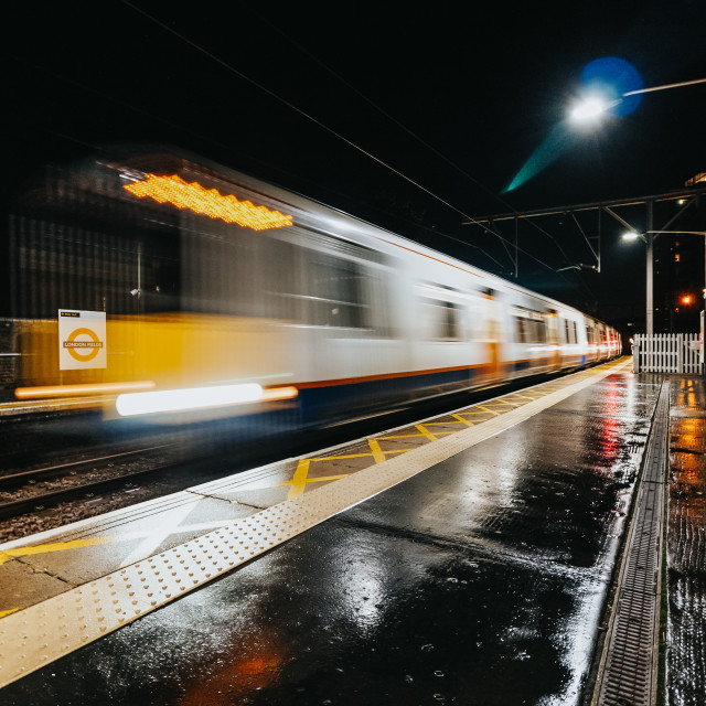 """Night Train (London Fields)"" stock image"