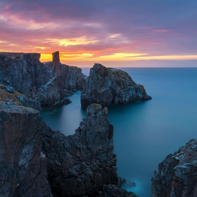 """Spillars Cove Sunrise"" stock image"