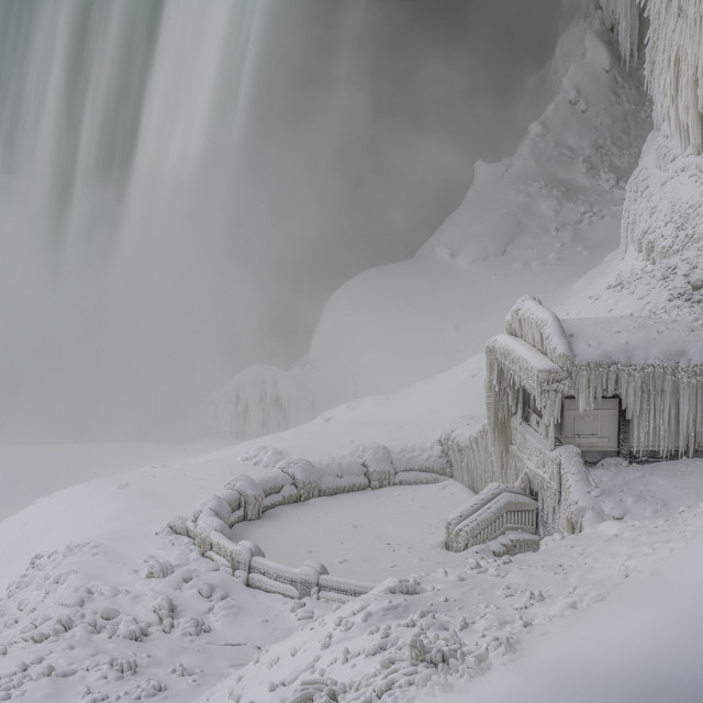 """Niagara Falls encased in ice"" stock image"