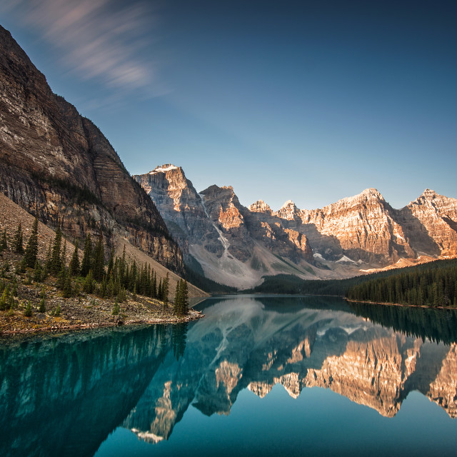 """Moraine Lake, Banff Alberta"" stock image"
