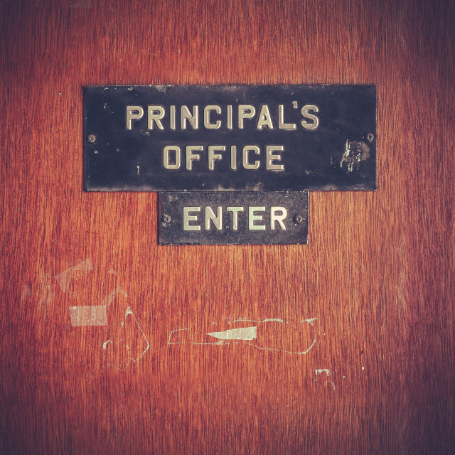 """Retro Grunge Principal Office"" stock image"