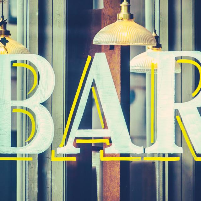 """""""Urban Bar Sign"""" stock image"""