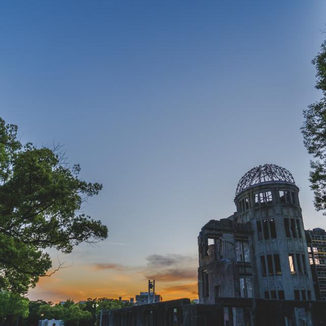 """Hiroshima Solitude"" stock image"