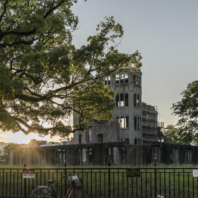"""Sunset Hiroshima"" stock image"