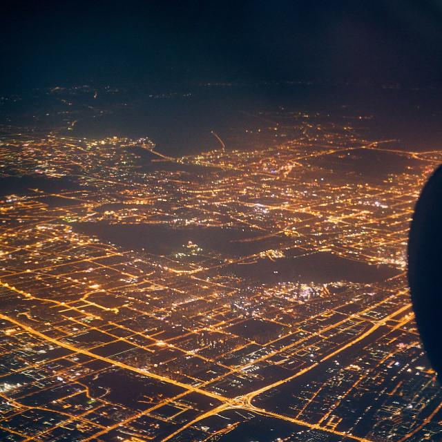 """""""Landing in Chongqing"""" stock image"""