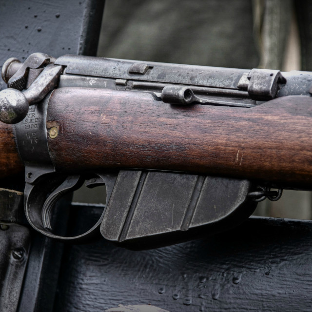 """Lee Enfield Rifle"" stock image"