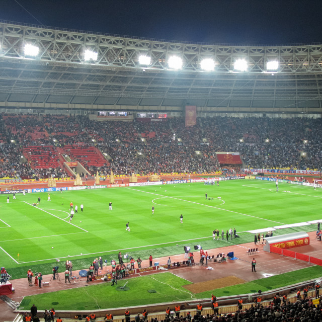 """The Luzhniki stadium in Moscow, host of the 2008 UEFA Champions League Final between Manchester United and Chelsea"" stock image"