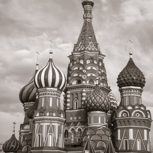 """Roof and towers of St.Basil's Cathedral in the Red Square, Mosco"" stock image"