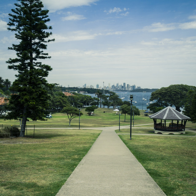 """Robertson Park, Watsons Bay, Sydney Harbour, New South Wales, Australia - green tint applied"" stock image"
