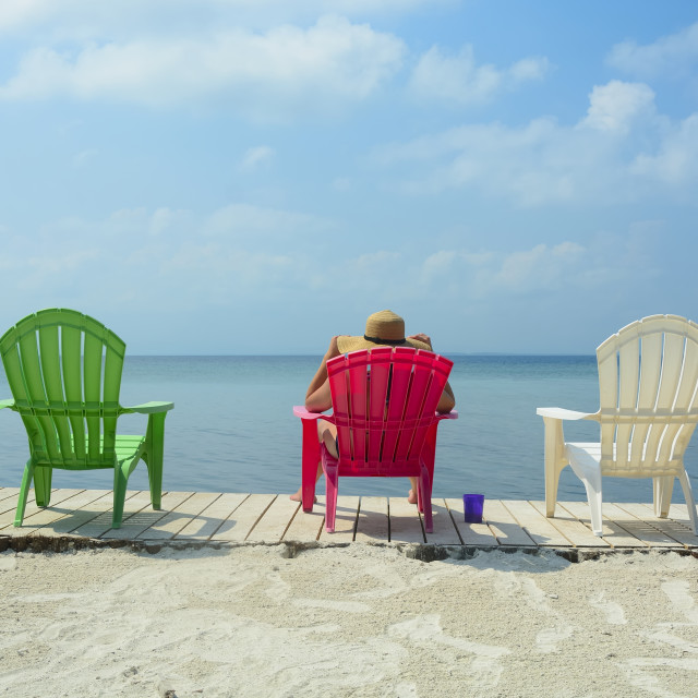 """""""Sitting on the dock"""" stock image"""