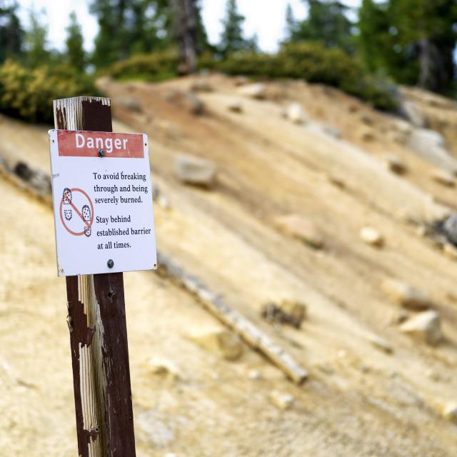 """Sign warning of danger"" stock image"