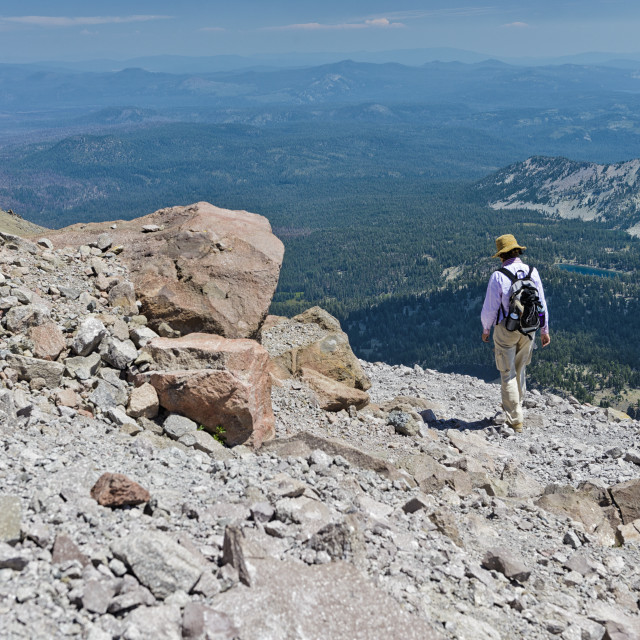 """High up on the Lassen Volcano Trail"" stock image"