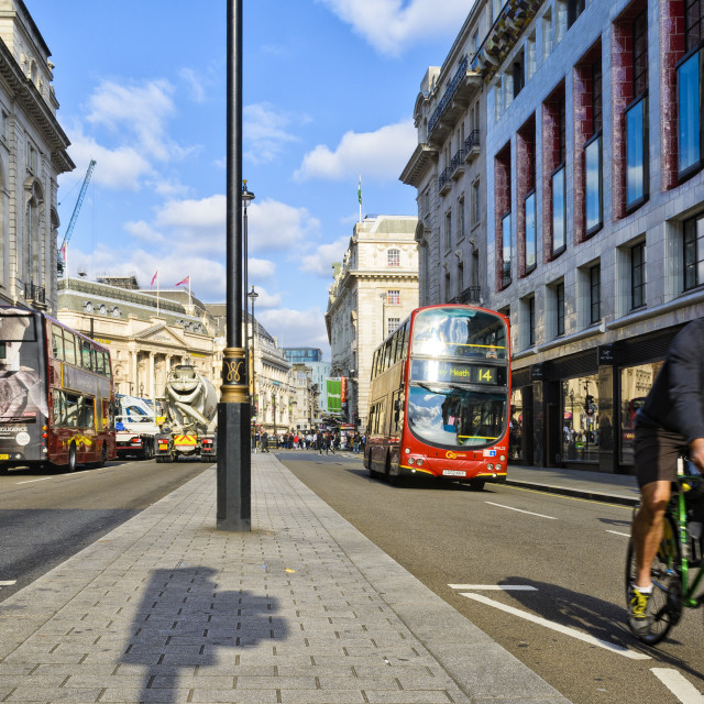 """Piccadilly in Central London"" stock image"