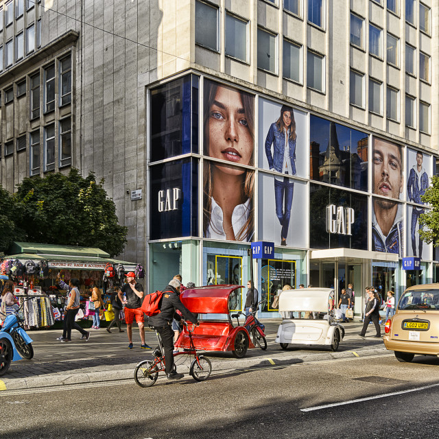 """Oxford Street view in London"" stock image"