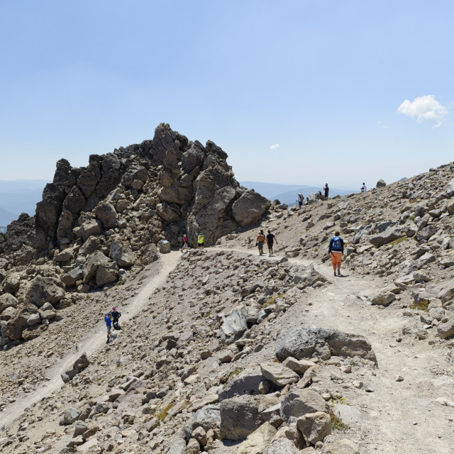 """On the Lassen Volcano trail"" stock image"