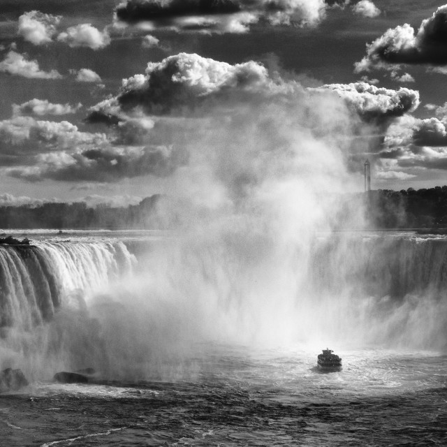 """Horseshoe Falls: Fall Season Wonders"" stock image"