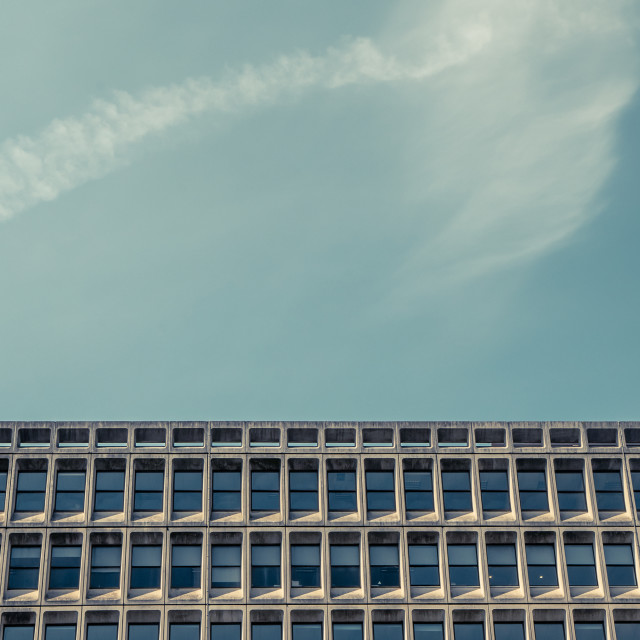 """""""Abstract 70s Architecture"""" stock image"""