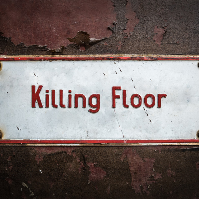 """Abattoir Killing Floor Sign"" stock image"