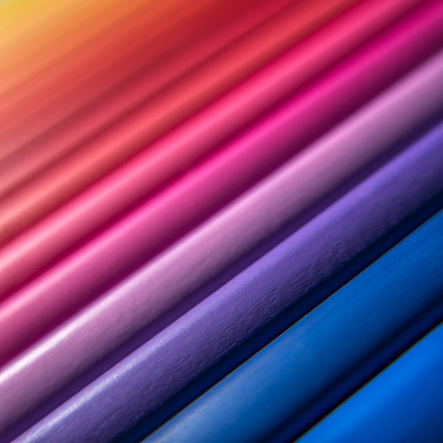 """""""Abstract Multicolored Pencils"""" stock image"""