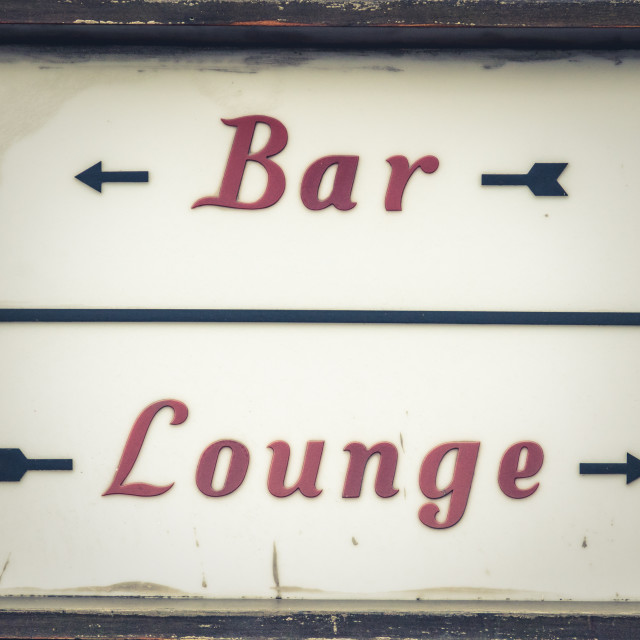 """""""Bar And Lounge Sign"""" stock image"""