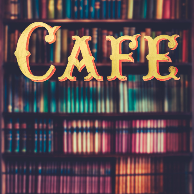 """""""Book Store cafe"""" stock image"""