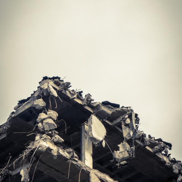 """""""Demolished Building Detail"""" stock image"""