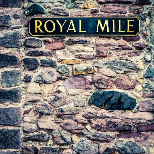 """Edinburgh Royal MIle Sign"" stock image"