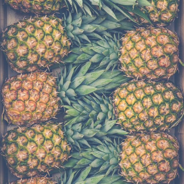 """""""Fresh Market Pineapples"""" stock image"""