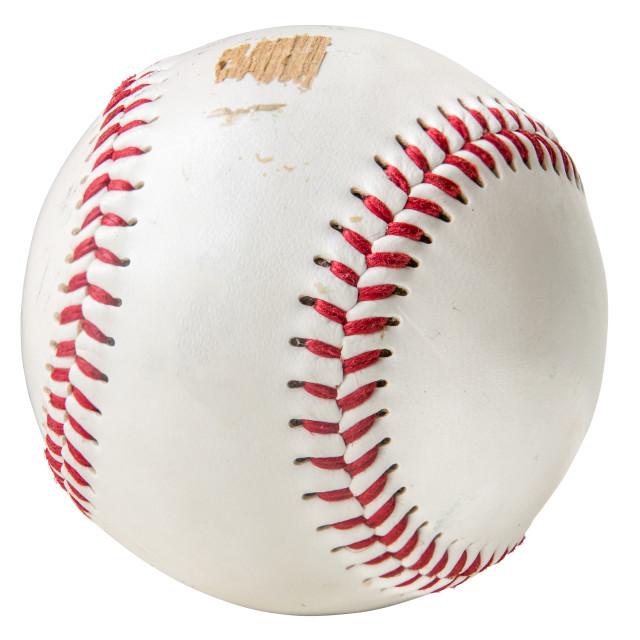 """""""Grungy Isolated Baseball"""" stock image"""