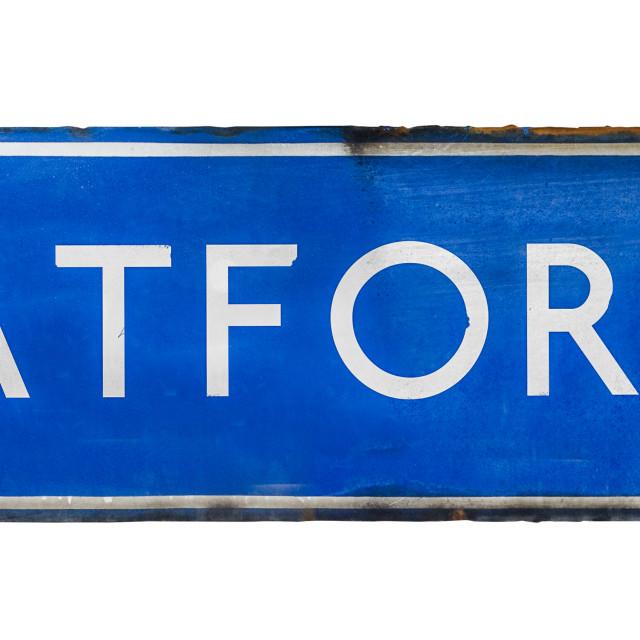 """Isolated Platform Railway Sign"" stock image"