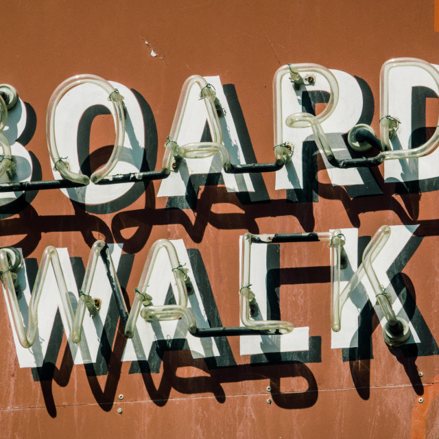 """Retro Boardwalk Sign"" stock image"