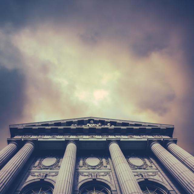 """Stormy City Hall"" stock image"