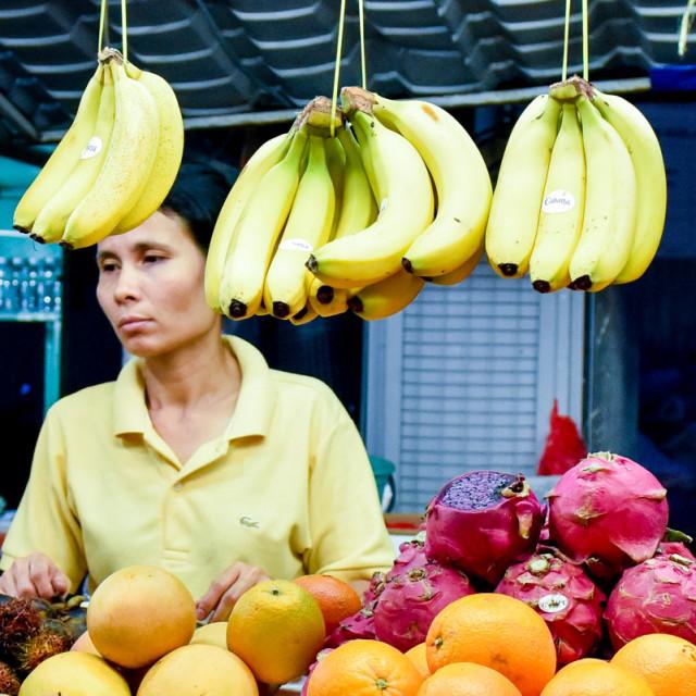 """""""Fruits stand , Kuala Lumpur"""" stock image"""