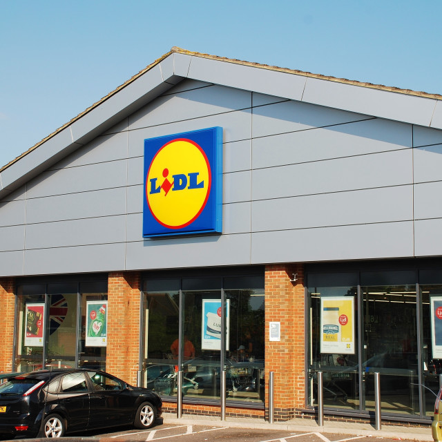"""Lidl supermarket in England"" stock image"