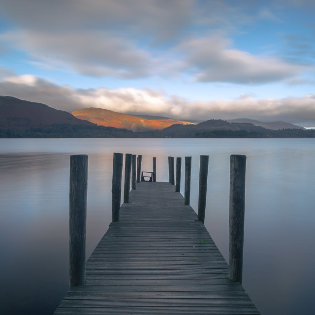 """Ashness Jetty"" stock image"