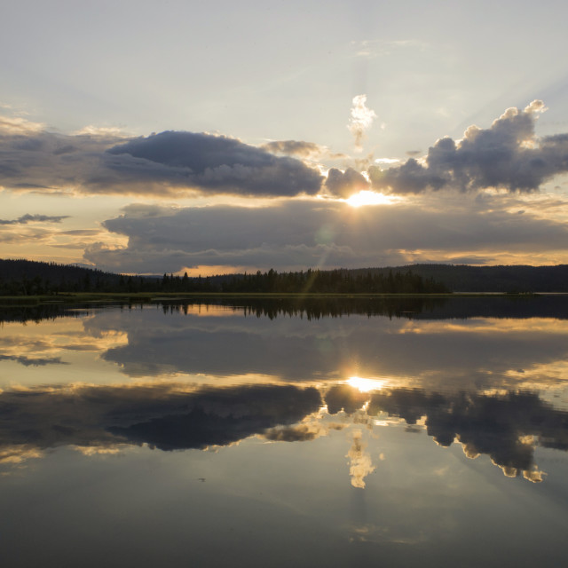 """""""Lake Raudsjon in Norway"""" stock image"""
