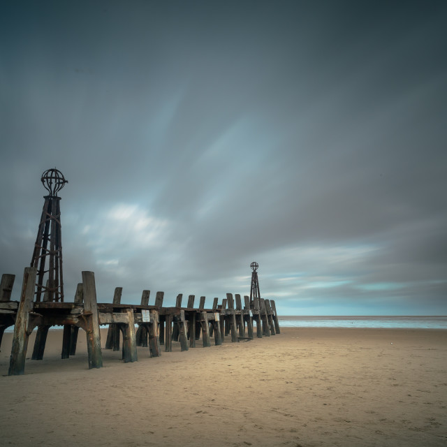 """Old Lytham St Annes Pier"" stock image"