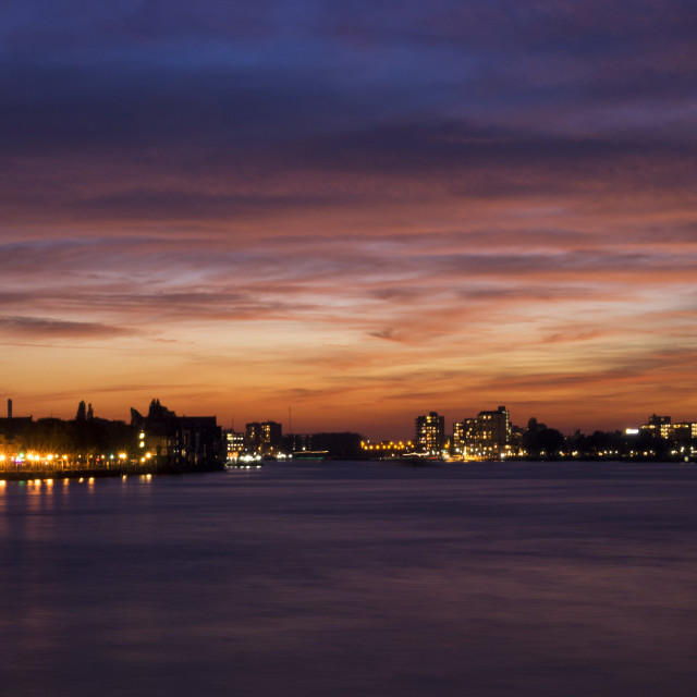 """Dordrecht after sunset"" stock image"