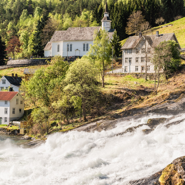 """Norway - Hellesylt Church"" stock image"