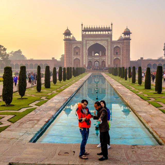 """Taj Mahal Sunrise 2."" stock image"
