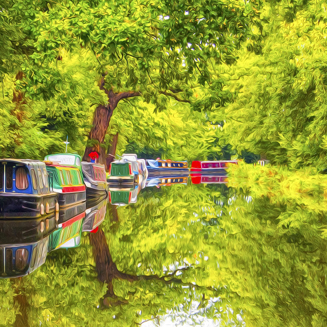"""Wey Navigation Canal"" stock image"