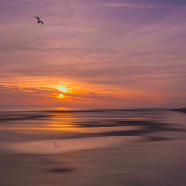 """Worthing Beach Sunset"" stock image"