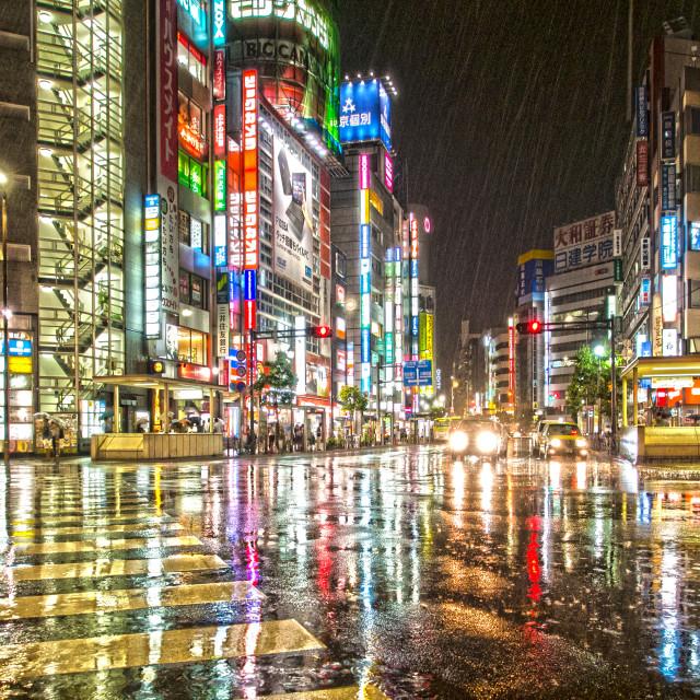 """Rain Ikebukuro Japan"" stock image"