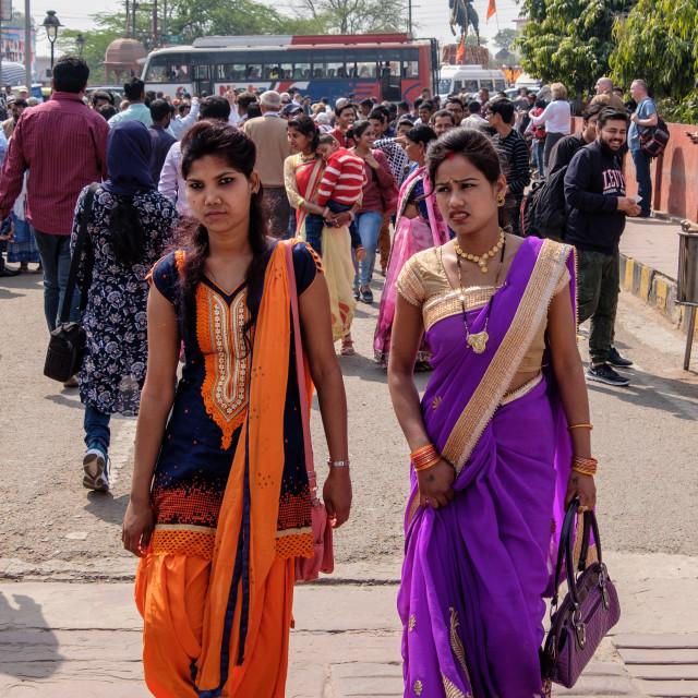 """""""Striking Sari's."""" stock image"""