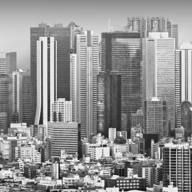 """Tokyo City Scape"" stock image"
