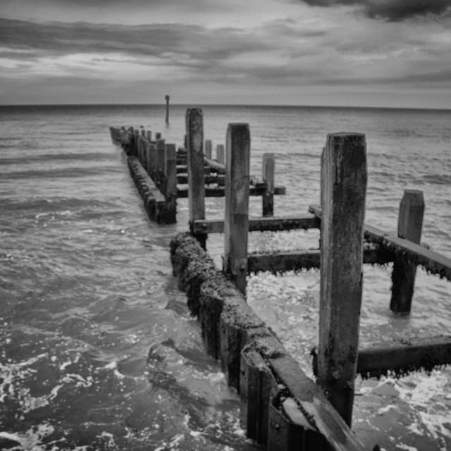 """Coastal Groyne"" stock image"